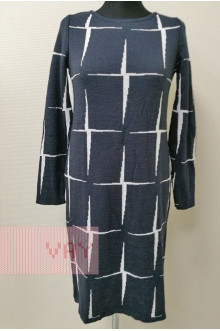 Платье женское 182-2339 Фемина (Темно-синий/белый)