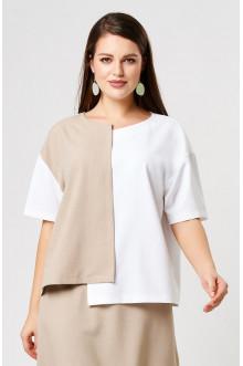 "Блуза ""Лина"" 4197 (Белый бежевый)"