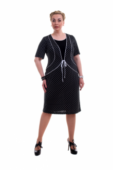 """Платье """"Олси"""" 1405010 ОЛСИ (Горох)"""
