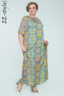 """Платье """"Её-стиль"""" 2034 ЕЁ-стиль (Синий)"""
