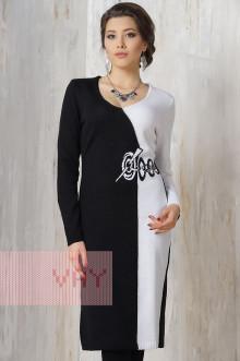 Платье женское 2209 Фемина (Черный/optyk)