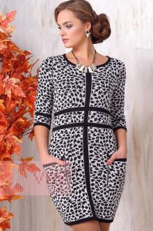 Платье женское 2129 Фемина (Черный/белый)